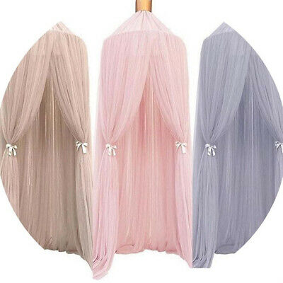 Bed Canopy Dome Round Curtain Mosquito Net Mesh Soft Elegant For Kids Room