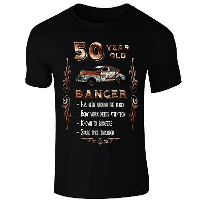 Old Banger Funny Birthday Present All Ages From 50 to 70 Available Mens T-shirt