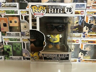 Funko Pop! Rocks NOTORIOUS BIG with Jersey #78 Vinyl Figure Biggie B.I.G.