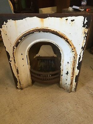 Vintage  HORSESHOE Fireplace Fire Surround Cast Iron Decorative RECLAIMED 25/9/B