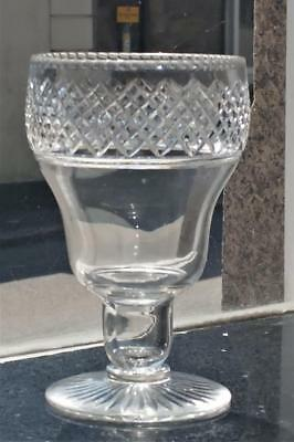 Georgian Large Anglo-Irish Ogee Bowl Diamond Cut Goblet with Hollow Open Stem