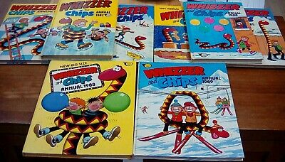 Whizzer & Chips Annuals Joblot of 13 Annuals 80's 90's GC Vintage Retro