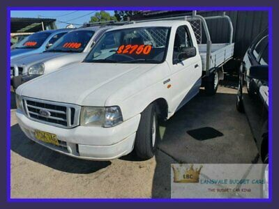 2003 Ford Courier PG GL White Manual M Cab Chassis