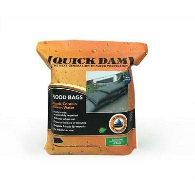 Quick Dam Water Activated  Flood Bags 1ft x 2ft, 6-Pack