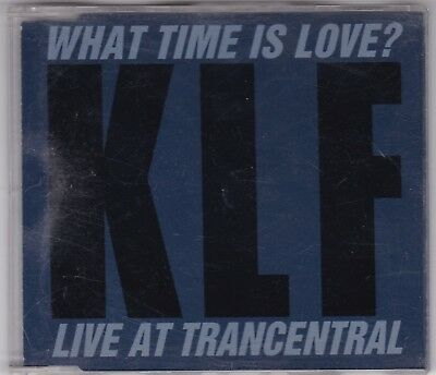 """KLF - WHAT TIME IS LOVE - LIVE AT TRANCENTRAL 3"""" INCH CD Single © 1990 3 TRACKS"""