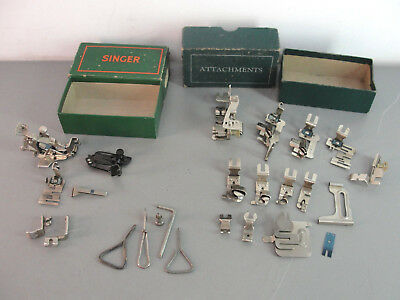 Singer Greist Simone Electric Sewing Machine Metal Foot Attachment Vtg Lot 20