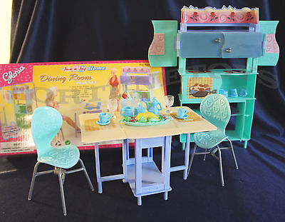 GLORIA DOLLHOUSE FURNITURE Size Join n Joy Home Dining Plates Spoons Play SET