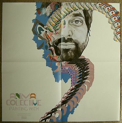 ANIMAL COLLECTIVE Album POSTER Painting With 2-Sided 22 x 22