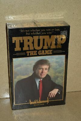 %% Donald Trump The Game 1989 Board Game Vintage Milton Bradley Factory Sealed