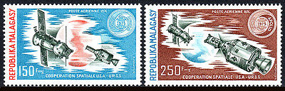 Malagasy C131-C132, MNH. Russian-American Space Cooperation, 1974