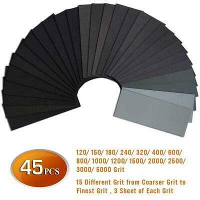 """3M 1000-1200-1500-2000-2500-3000 Wet or Dry Sandpaper 5.5/""""x 9/"""" 6 boxes//300"""