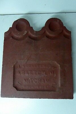 Mitcham Pottery Melbourne Victorian Antique Garden Edge Terracotta Tiles 120 +