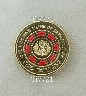 One UNC 2019 $2 One hundred years of Repatriation Two Dollar $2 coin.ex Mint Bag