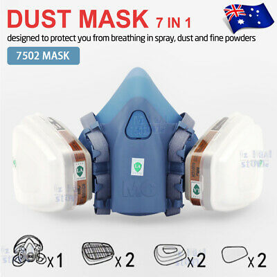7502 7 Piece Suit Half Face Respirator Painting Spraying Face Dust Gas Mask