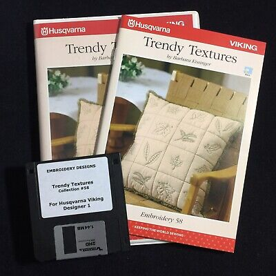 Trendy Textures Embroidery Designs Disk #58 For Husqvarna Viking Designer 1