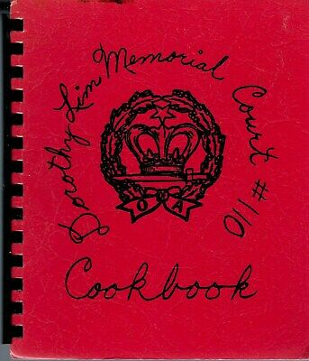 Stroudsburg Pa 1978 Order Of The Amaranth Cook Book * Dorothy Lim Memorial Court