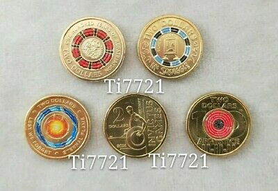 5*$2 coin 2019 Repatriation+Blackboard&2018 Armistice(Red Poppy)Invictus&Eternal