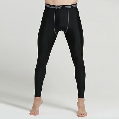 Men Compression Tight Leggings Running Sports Male Gym Fitness Pants Quick Dry