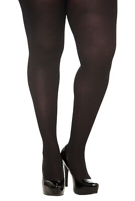Torrid Woman Plus Size Black Opaque Spandex Footed  Tights In 1X/2X Or 3X/4X Nwt