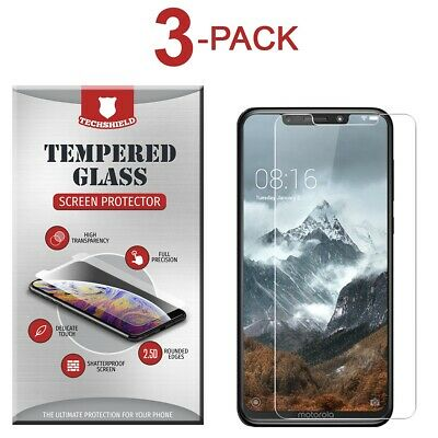 (3-Pack) Tempered Glass Film Screen Protector For Motorola Moto One