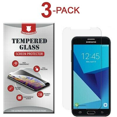 (3-Pack) Tempered Glass Film Screen Protector For Samsung Galaxy J7 Perx