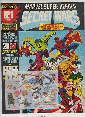 Marvel Super Heroes Secret Wars # 1  -Nm  With Free Gifts  1985  Uk Edition