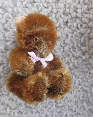 Alter Teddybär Old antique Miniature Soldier Teddy Bear - Vintage Antik Small