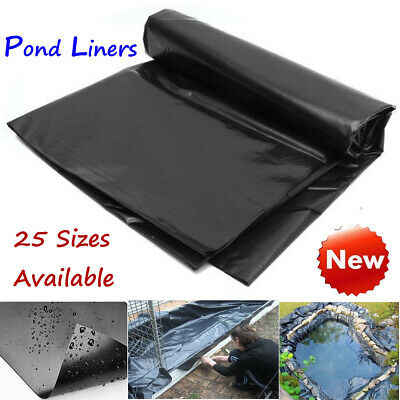 8-32ft Sizes Fish Pond Liner Gardens Pools PVC Membrane Reinforced Landscaping