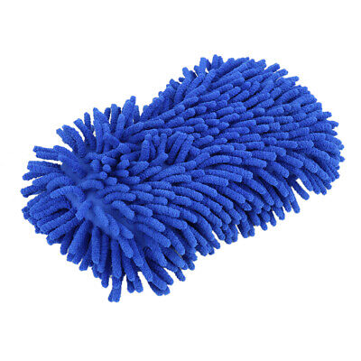 Car Chenille Wash Sponge Auto Cleaning Cloth Washing Foam Cleaner Tools Blue