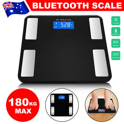 180KG Bluetooth Digital LCD Body Fat Scale Bathroom Gym Weight Scales Electronic