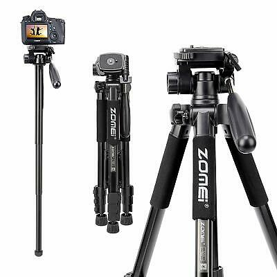 ZOMEI Q222 Aluminum Tripod Monopod Portable Pan Head Travel Stand For DSLR Camer