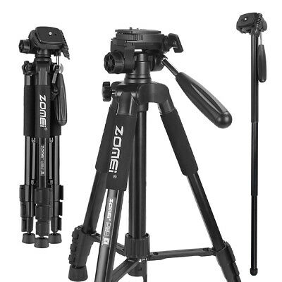 ZOMEI Q222 Pro Aluminum Tripod Heavy Duty Monopod Travel Stand For DSLR Camera