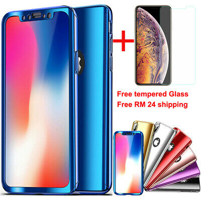 For iPhone XS Max XR X 8 7 6S Plus 360°Mirror Shockproof Hybrid Full Case Cover