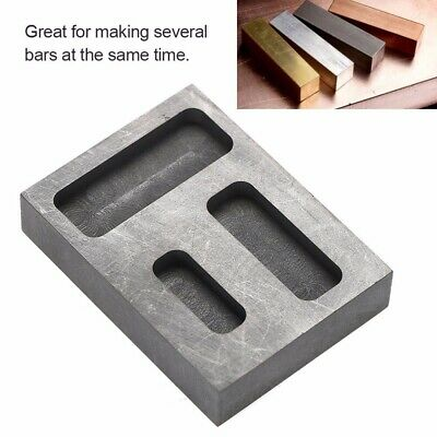 DIY Graphite Melting Casting Ingot Bar Mold Refining Scrap Copper Silver Gold