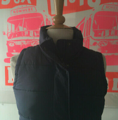 """Joules """"Eastleigh"""" Navy Gilet Body Warmer With Floral Lining Size-8"""