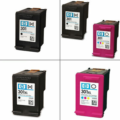 HP 301 / 301XL Black & Colour Ink Cartridge For DeskJet 2544 Printer - No box