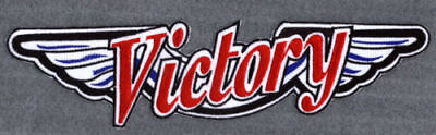"""Victory Motorcycle 11"""" r/w/b wing patch.NEW.UNIQUE"""