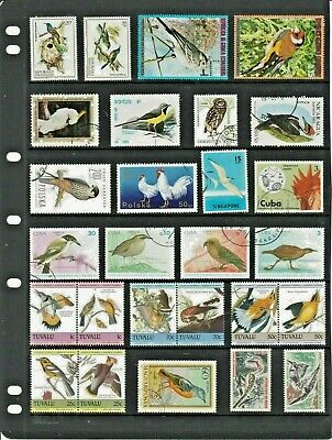 BIRDS Thematic STAMP Collection MINT USED Our Ref:TT10