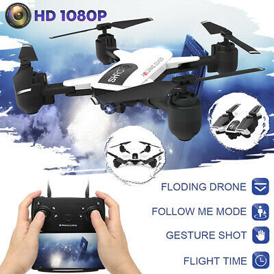 Foldable WIFI RC Drone With HD 1080P Camera Selfie Follow Helicopter Quadcopter