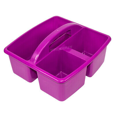 Small Purple Storage Basket with Handle Art Desk Cleaning Sink Caddy Box Tidy