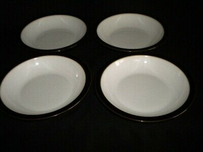 Denby Greenwich 4 Soup / Cereal Bowls Very Good Condition