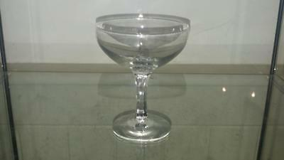 Victorian Hand Blown Lead Crystal Champagne Saucer/ Sweetmeat Glass C1840+