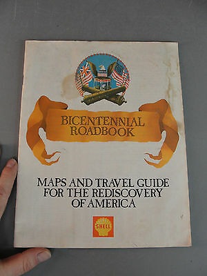 Shell Bicentennial Roadbook Map Travel Tip Guide Rediscovery Of America July '76