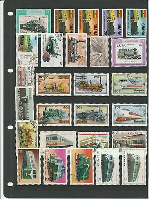 TRAINS/RAILWAY Thematic STAMP Collection  MINT & USED Our Ref:TT4