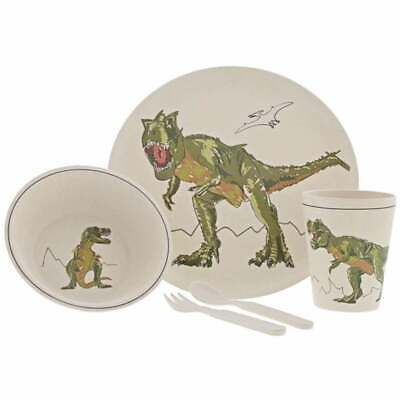 Roar-Some T-Rex Dinosaur Bamboo 5 Piece Dinner Set A29324 New in Branded Box