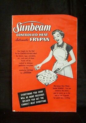 Sunbeam Controlled Heat Automatic Frypan Instruction Book & Recipes