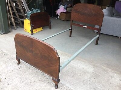 Antique Mahogany Single Metal Bed Frame By Staples & Co