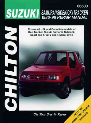 chilton workshop manual suzuki samurai sidekick tracker x-90 geo 1986-1998