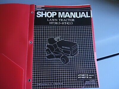 honda riding mower shop manual ht 3813 ht 4213 vintage 1987