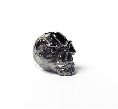 "Schmuckatelli Co SMUKEP Emerson Skull Bead Pewter 3//8/"" x 1//2/"" x 1//2/"" Sculpted p"